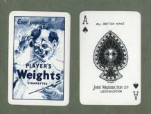 Collectible Advertising Players Weights cigarettes playing cards